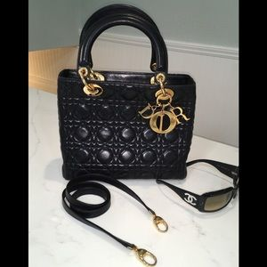 Extra pics for Lady Dior lambskin Cannage bag